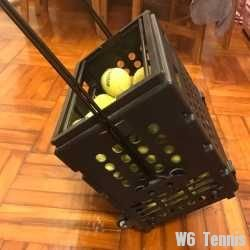 link to Tennis basket with around 50 tennis ball