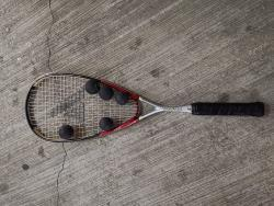 link to $380 two 99% Squash Rackets with 5 Balls