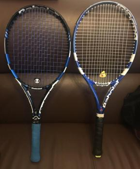 link to Sell blue Babolat pure drive and pure drive lite