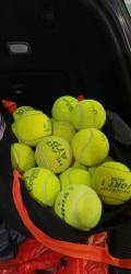 link to Used multiple bands tennis balls