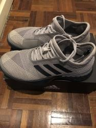link to Adidas adizero Ubersonic 3 Grey/Navy Men's Shoe