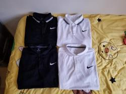 link to Nike Standard Fit Polo (White / Black)