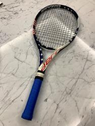 link to Babolat Pure Aero Stars and Stripes Tennis Racquet - Grip 3